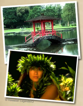 Liliuokalani Park; Hilo hosts the annual Merrie Monarch Hula Festival